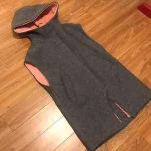Coco & yves vest jacket sz med pink and grey